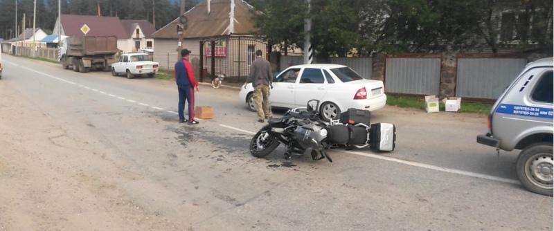 В Архызе пострадал мотоциклист из Светлограда