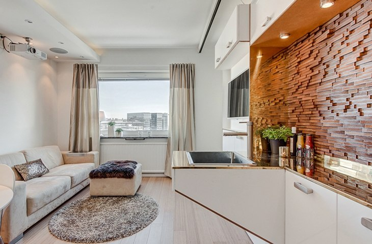 Квартира 30 м с мульти-мебелью в Копенгагене / Дания - http://kvartirastudio.