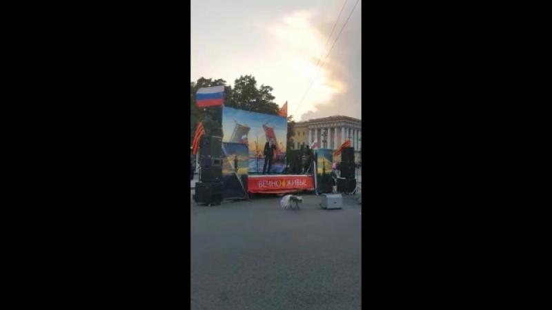 Одинокая гармонь. Концерт на Дворцовой площади.