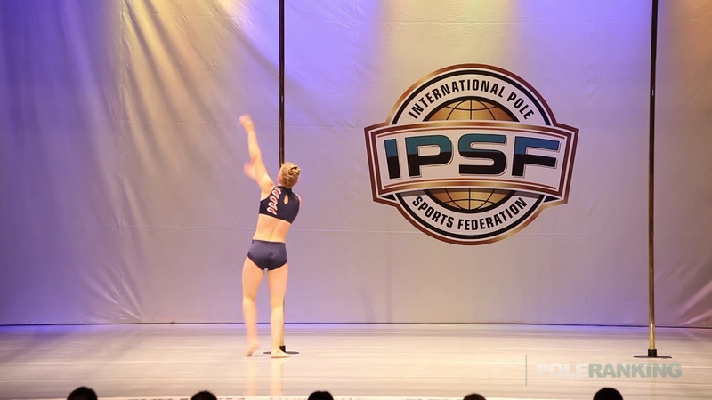 Novice Girls Irina Makushina of Russia - IPSF World Pole Sports Championships 2018