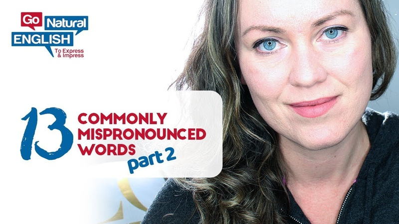 13 Commonly Mispronounced Words in English *PART 2* How to Speak Properly