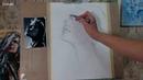 Е.Захваткина Контрастный портрет простым карандашом
