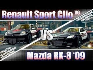 Renault Sport Clio V6 vs Mazda RX-8 '09 #SundayMatchup Ep.11 - NFSW
