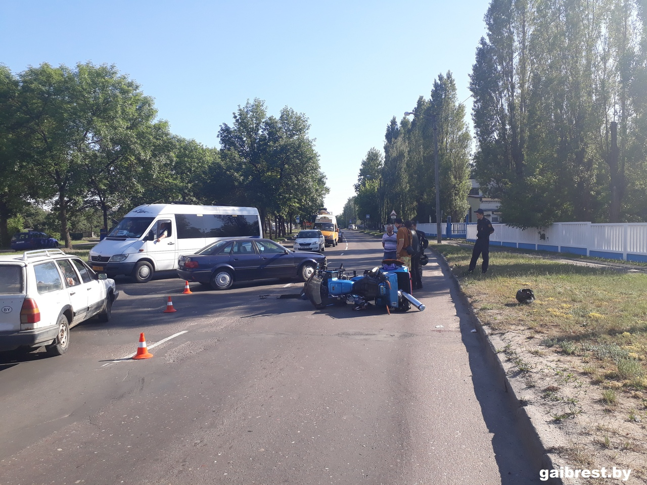 В ДТП с участием мотоцикла на Красногвардейской не уступил дорогу водитель AUDI
