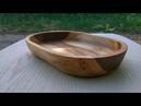 Как сделать тарелку из дерева
