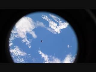 Экипаж Международной космической станции заметил в иллюминаторе очень редкое явление-проле