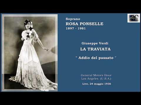 """Soprano ROSA PONSELLE - La traviata """"Addio del passato"""" (Live 1936)"""