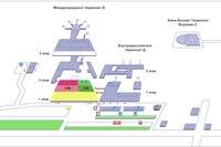 схема пассажирских терминалов B и D аэропорта Внуково.