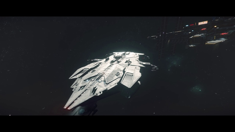Star Citizen 3.3 PTU: Hostile hammerhead taking heavy fire while docking at spaceport