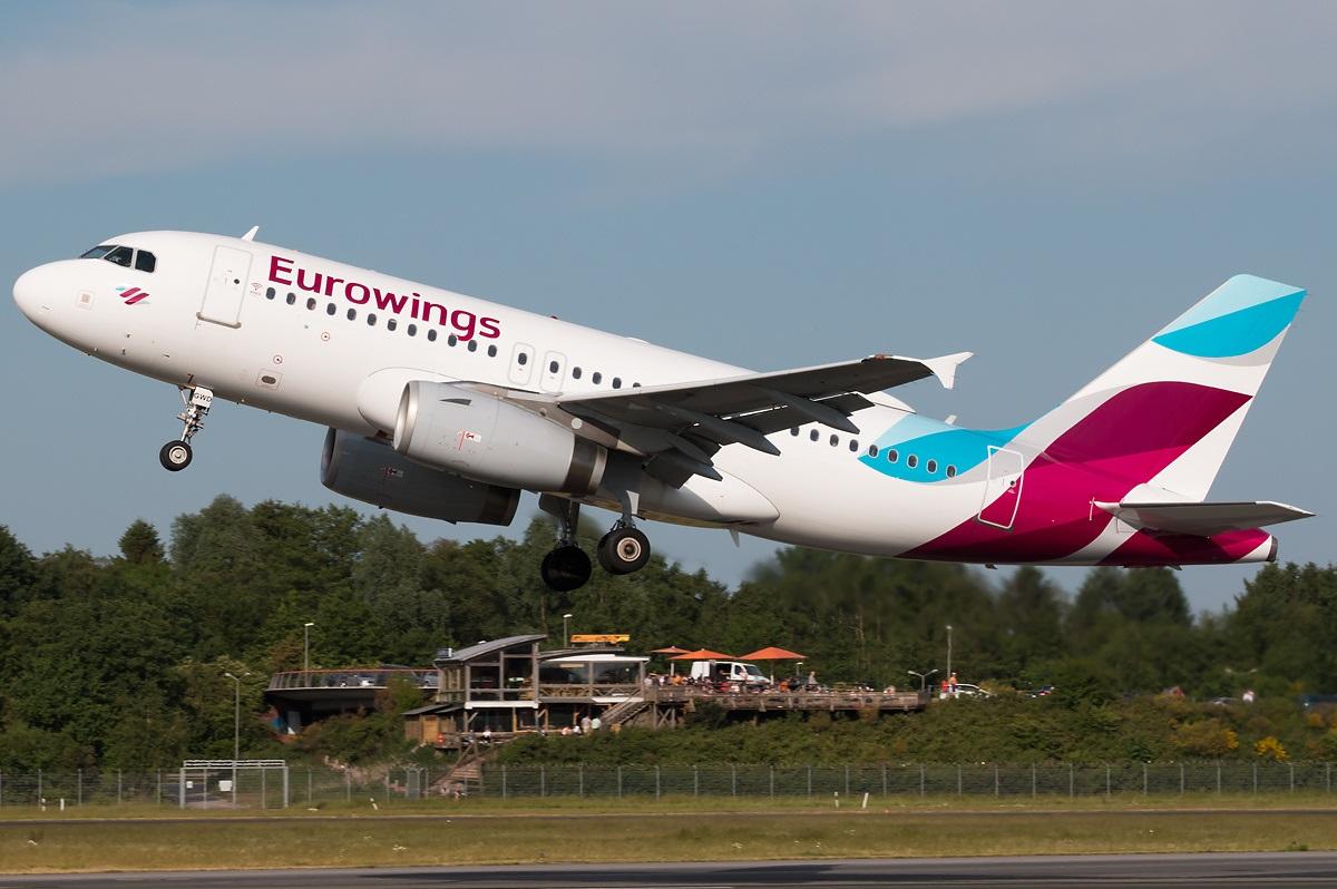 Взлет Airbus A319