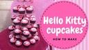 Hello Kitty Hello Kitty Cupcakes Tutorial 2 mins Irma's Fondant Cakes
