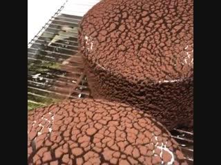Интересная технология работы с зеркальной глазурью и какао | Больше рецептов в группе Десертомания