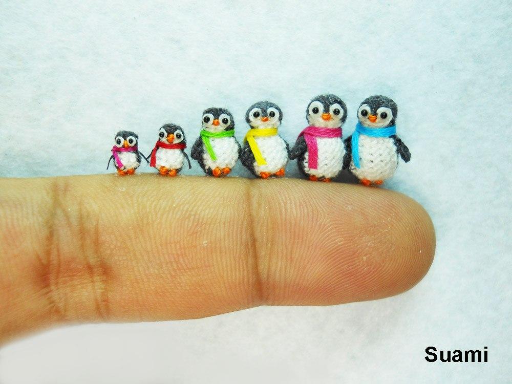 Вязаные микро игрушки
