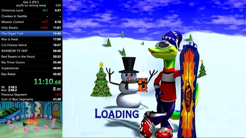 (PS1) Gex 3: Deep Cover Gecko - any% No Wrong Warp in 42:35 (World Record)