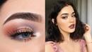 Lavender Copper Fall Makeup | Norvina Palette Tutorial
