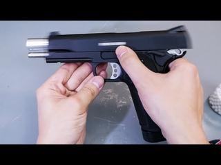 Страйкбольный пистолет KJW Hi Capa Colt 1911 CO2 видео обзор