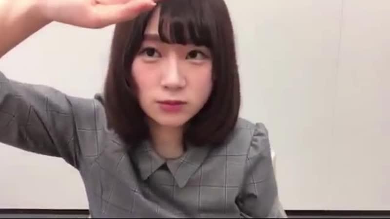 【欅坂46 SHOWROOM 長沢菜々香 2018.01.10】