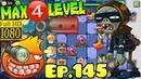 Plants vs Zombies 2 China Pomegranate Machine Gun MAX 4 level Dark Ages Night 3 Ep 145