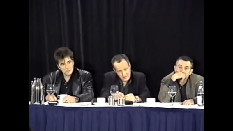Heat (1995) Press Conference - Robert De Niro, Al Pacino, Michael Mann