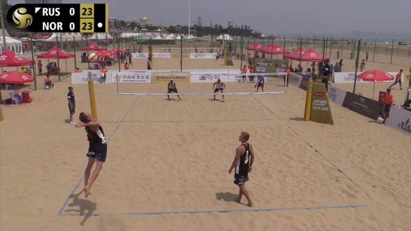 A.Mol/Sørum (NOR) vs. Krasilnikov/Liamin (RUS) Pool Play 2018 FIVB 4-Star Xiamen, China