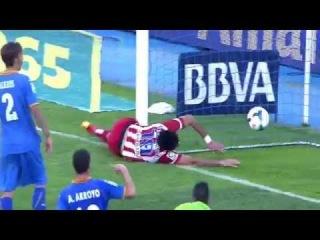 Diego Costa Goal & Horror Injury ~ Getafe vs Atletico Madrid 0-2 ( 13/04/2014 ) HD