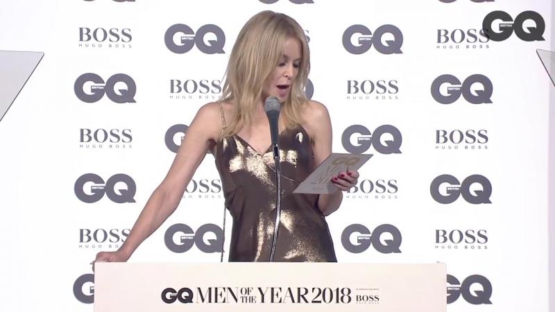 Kylie Minogue Presents Lifetime Achievement Award To Johnny Marr (GQ Awards 05.09.2018)
