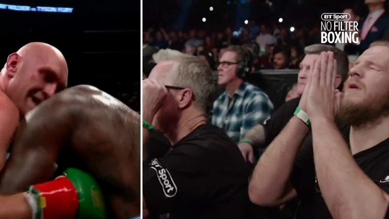 How Tyson Furys corner reacted ringside to that incredible 12th round against Deontay Wilder