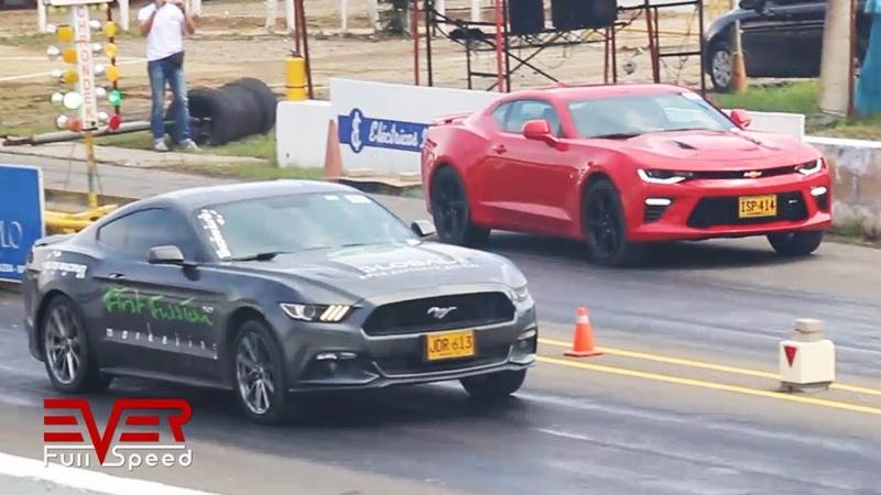 Ford Mustang vs Chevrolet Camaro | Drag Races
