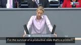 Alice Weidel(AfD) blasts German Parliament