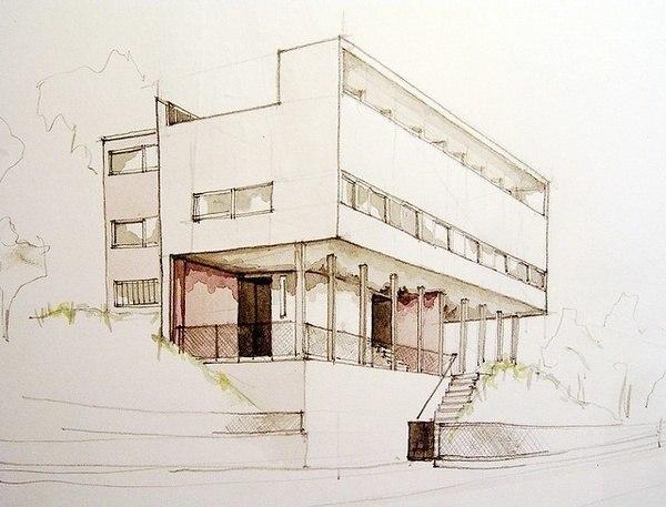 Архитектурные эскизы.