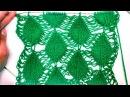 Вязание на спицах Узор Листочки Leafy Columns pattern with a deflated loops
