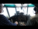 взлёт самолета AН-2 reg. № RF-00640 (вид из салона, Боровичи, аэродром