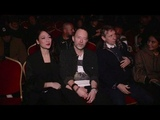 Thom Yorke and his girlfriend front row for the Undercover Fashion Show in Paris