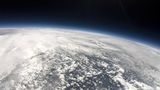 Near Space balloon launch at 240fps slow motion