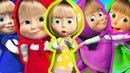 Маша и Медведь Сборник Учим цвета с пластилином Плей до Learn colors Play Doh мультики для детей