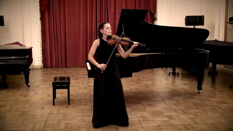 Bach Cello suite No 3 in C major BWV 1009 transcription for violin Maria Shalgina live