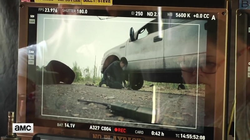 'Colman Domingo on Car Chase' Making Of Ep 412 BTS Fear the Walking Dead