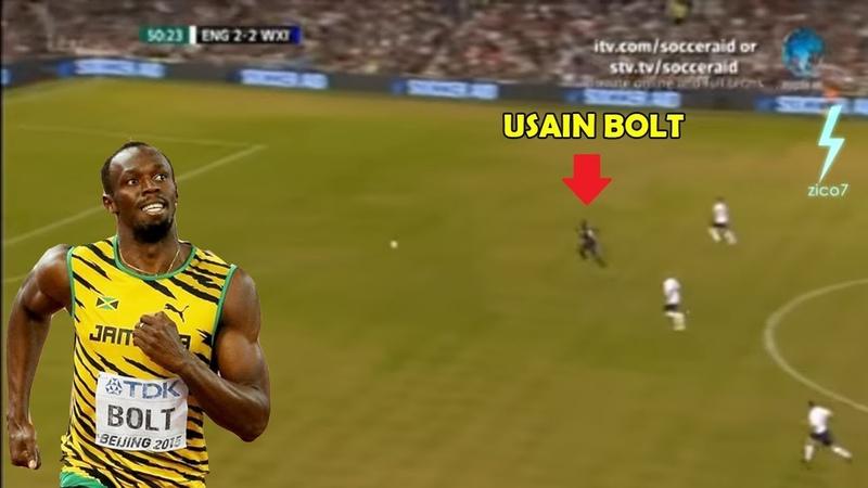 Full Aksi Debut Usain Bolt ● Bawa bola ga ada yang mau Ngejar