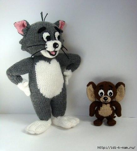 """Вязаная игрушка """"Том и Джерри"""""""