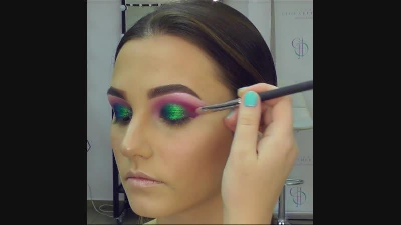 Яркий цветной макияж Color makeup. Видео-урок от Ольги Чуватовой