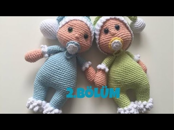 Amigurumi Emzikli bebek(kol,kafa,şapka,emzik) yapımı 2 bölüm 22
