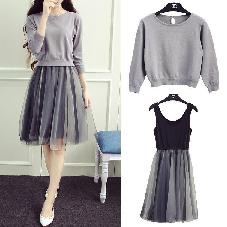 Комплект Легкая кофта + платье -