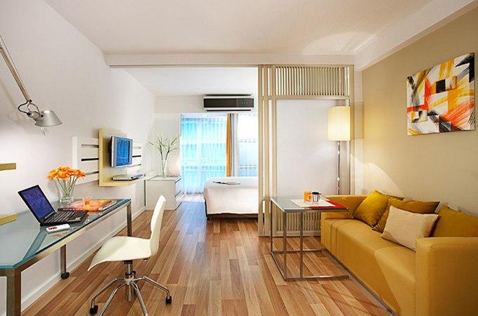 3D дизайн квартиры-студии 28 м в Бангкоке / Таиланд от Citadines - http://kvartirastudio.