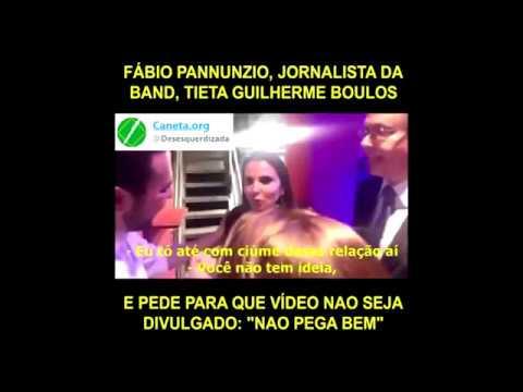 Fabio Pannunzio (BAND) TIETA Boulos (MTST) e pede para que vídeo não seja DIVULGADO