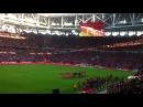 Валерий Кипелов исполняет гимн Спартака на матче открытия 5 сентября 2014