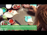 Sweet Dani B's Holiday Ornament Cookie Snow Scene