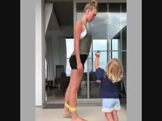 Тренируемся с детками!