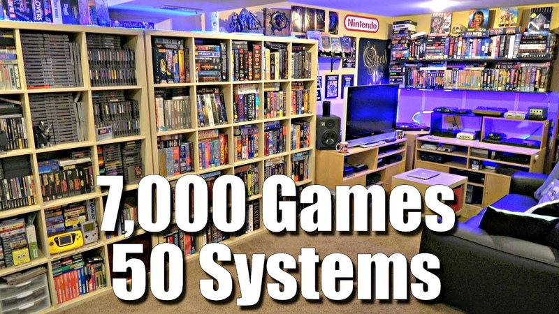 GAME ROOM TOUR - 7,000 Games 50 Systems - METAL JESUS ROCKS