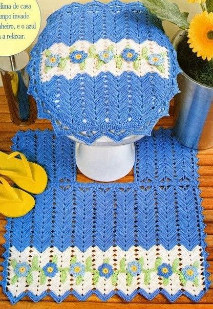 Juegos De Baño A Crochet:Delicadezas en crochet Gabriela: 2 Juegos de baño en crochet