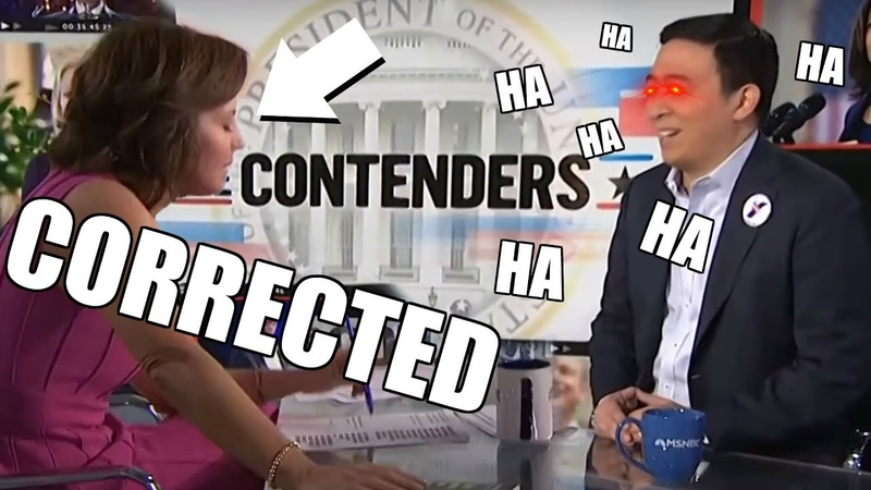 Andrew Yang LAUGHS in the FACE of MSNBC